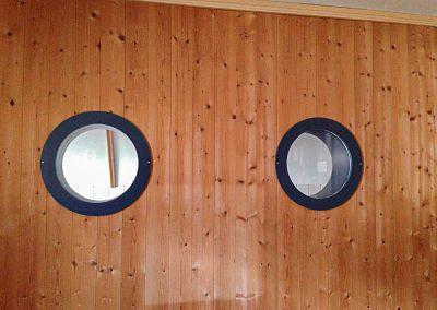 Bullaugenfenster, Schreinerei Sarbach AG Frutigen